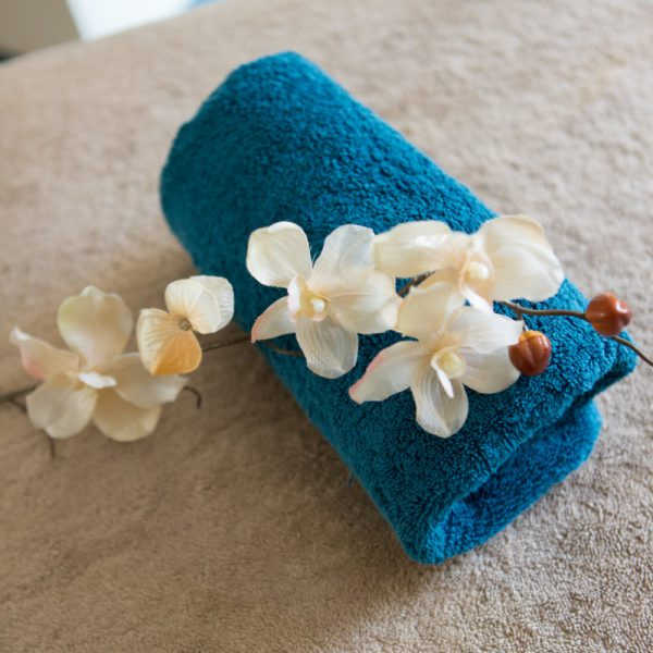 Towel and Flowers